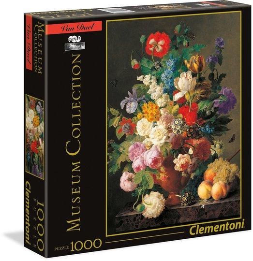 Clementoni Museum Puslespill - Van Dael: Vase med blomster, 1000 biter