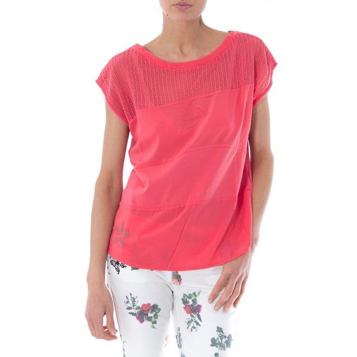Desigual Women's T-Shirt Coral 165755 - coral XS