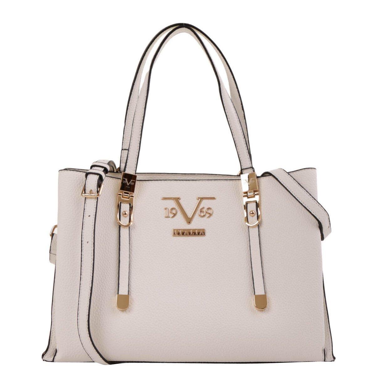 19v69 Italia Women's Handbag Various Colours 318969 - white UNICA