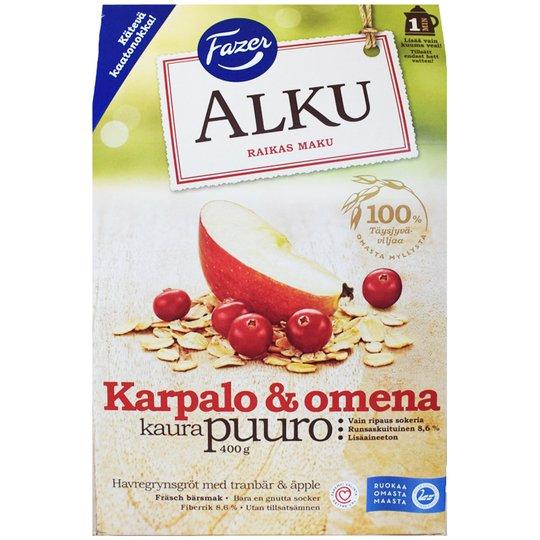 "Kaurapuuro ""Karpalo & Omena"" 400g - 26% alennus"