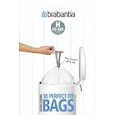 Søppelposer H, 40/50/60 Ltr (10 poser/rulle) 'Tear Off' Display White
