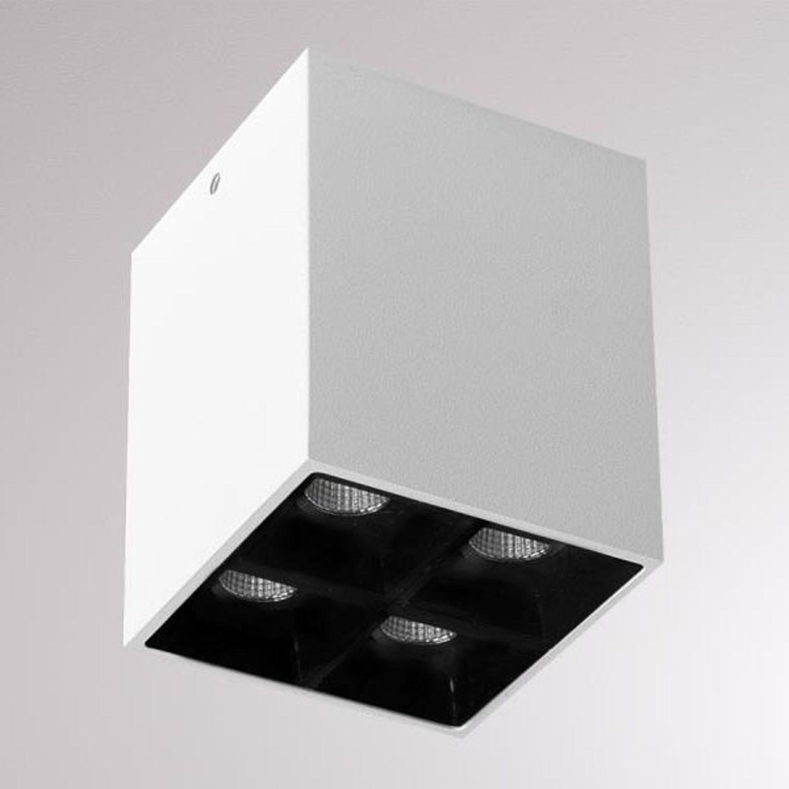 LOUM Liro -LED-kattospotti valkoinen/musta 2 700 K