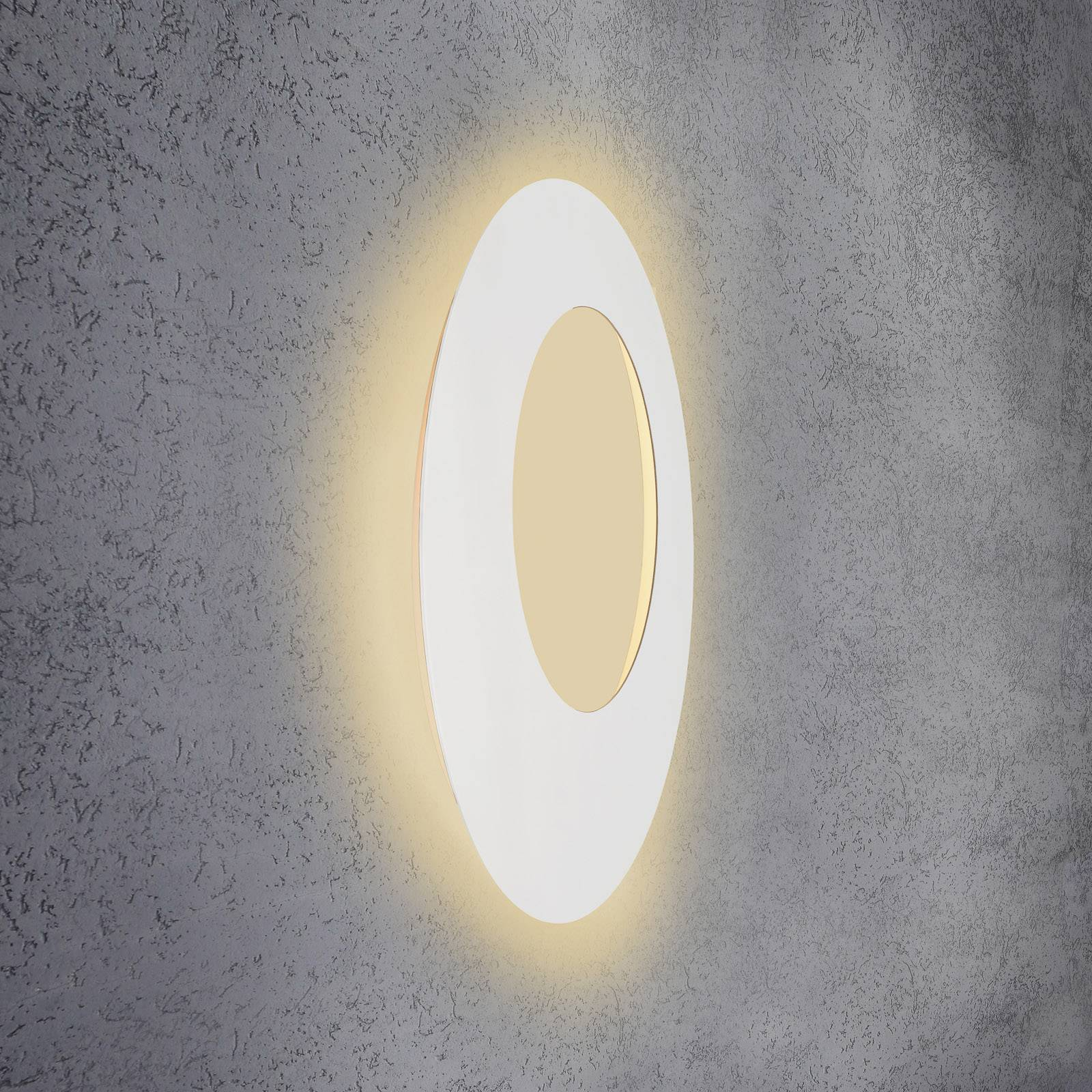 Escale Blade Open -LED-seinälamppu valkoinen Ø79cm