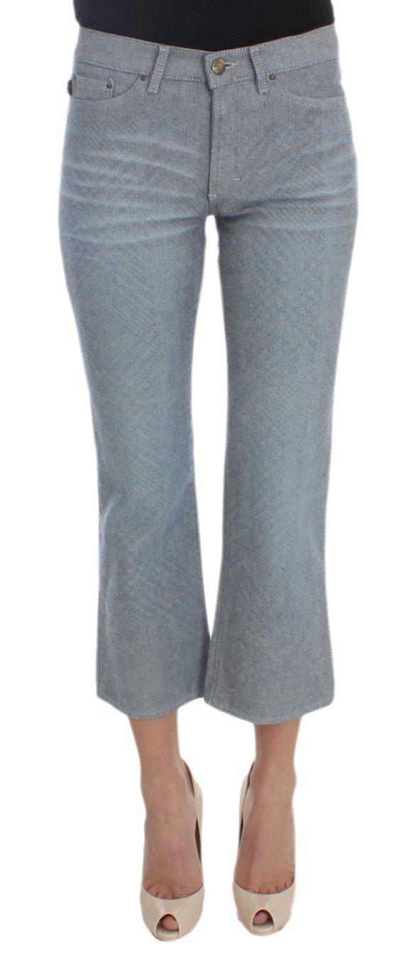 Cavalli Women's Cotton Slim Fit Denim Capri Jeans Blue SIG30574 - W26