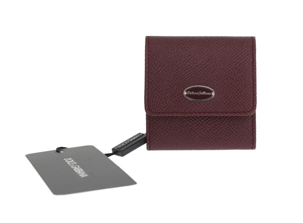 Dolce & Gabbana Men's Dauphine Leather Key Wallet Bordeaux SMY192