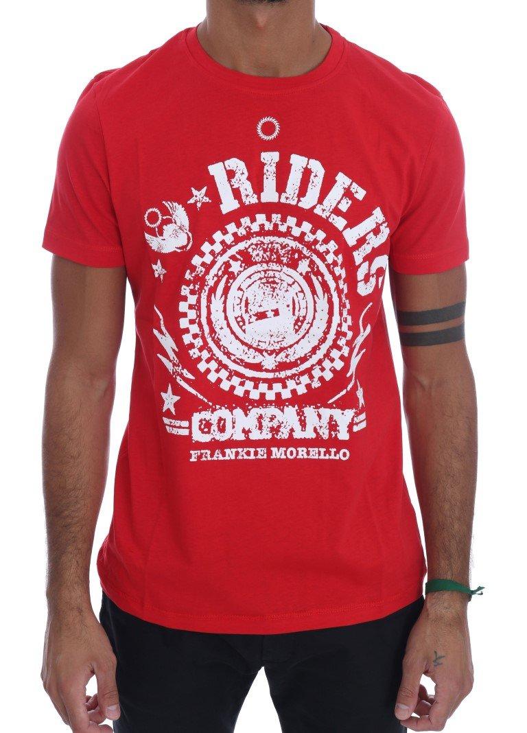 Frankie Morello Men's RIDERS Crew Neck T-Shirt Red TSH1263 - L