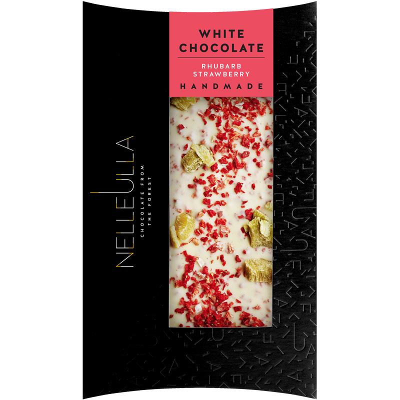 Vit Choklad Rabarber & Jordgubbar 80g - 67% rabatt