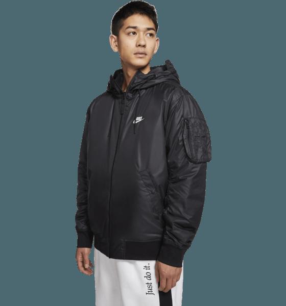 Nike M He Wr Jkt Hd Rev Insltd Jackor BLACK/WHITE/SAIL