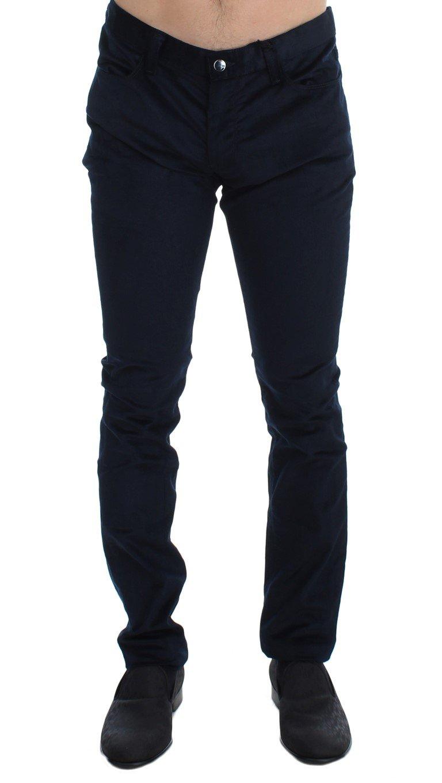 Costume National Men's Corduroy Slim Fit Trouser Blue SIG17938 - W34