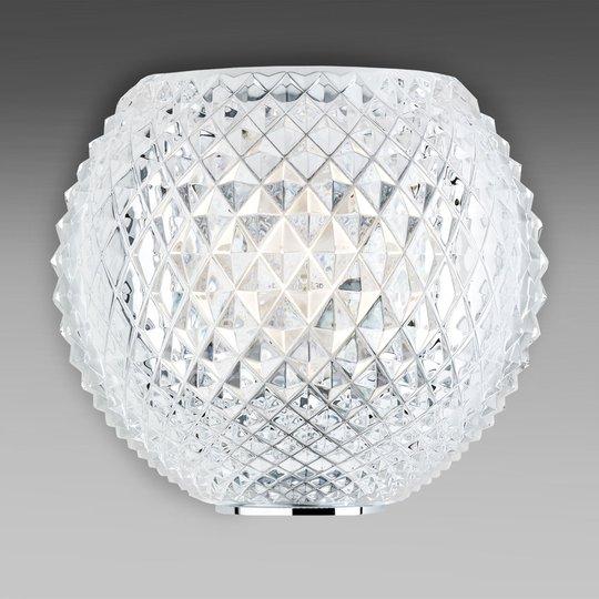 Kuvioitu kristalliseinävalaisin Diamond and Swirl