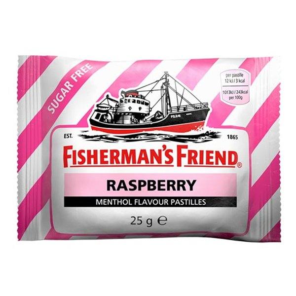 Fishermans Friend Sockerfri Raspberry