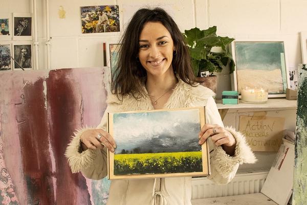 At Home: Mindful Painting - Golden Landscape