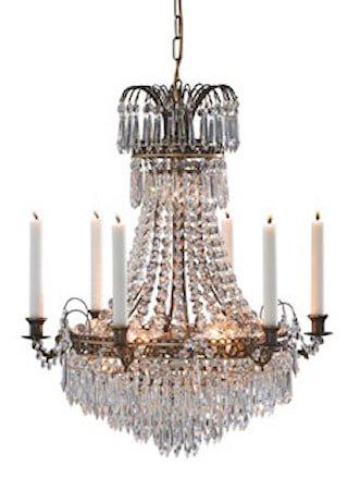 Läckö Taklampe 7 Lys Antikk
