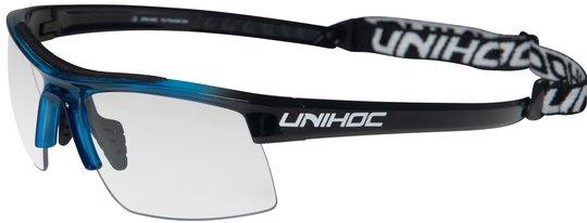 Unihoc ENERGY Innebandybriller, Blå/Svart