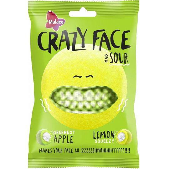 "Godis ""Crazy Face Sour"" 80g - 54% rabatt"