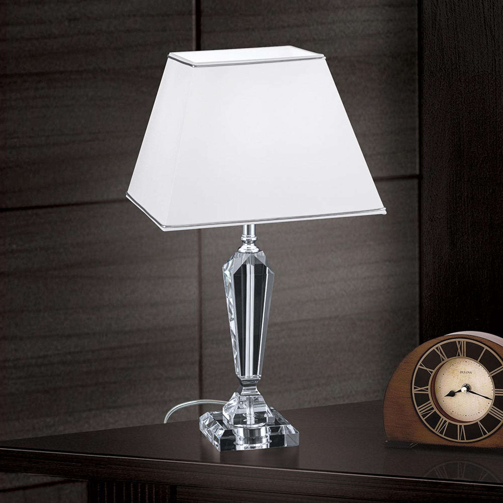 Pöytälamppu Veronique, kapea jalka valkoinen/kromi
