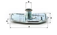 Hydrauliikkasuodatin, automaattivaihteisto MANN-FILTER H 199/1
