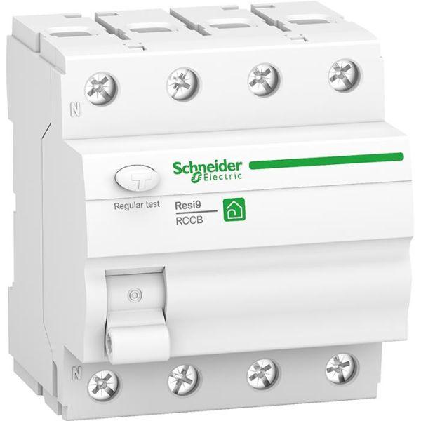 Schneider Electric Resi9 Vikavirtasuoja 4-napainen, 25 A