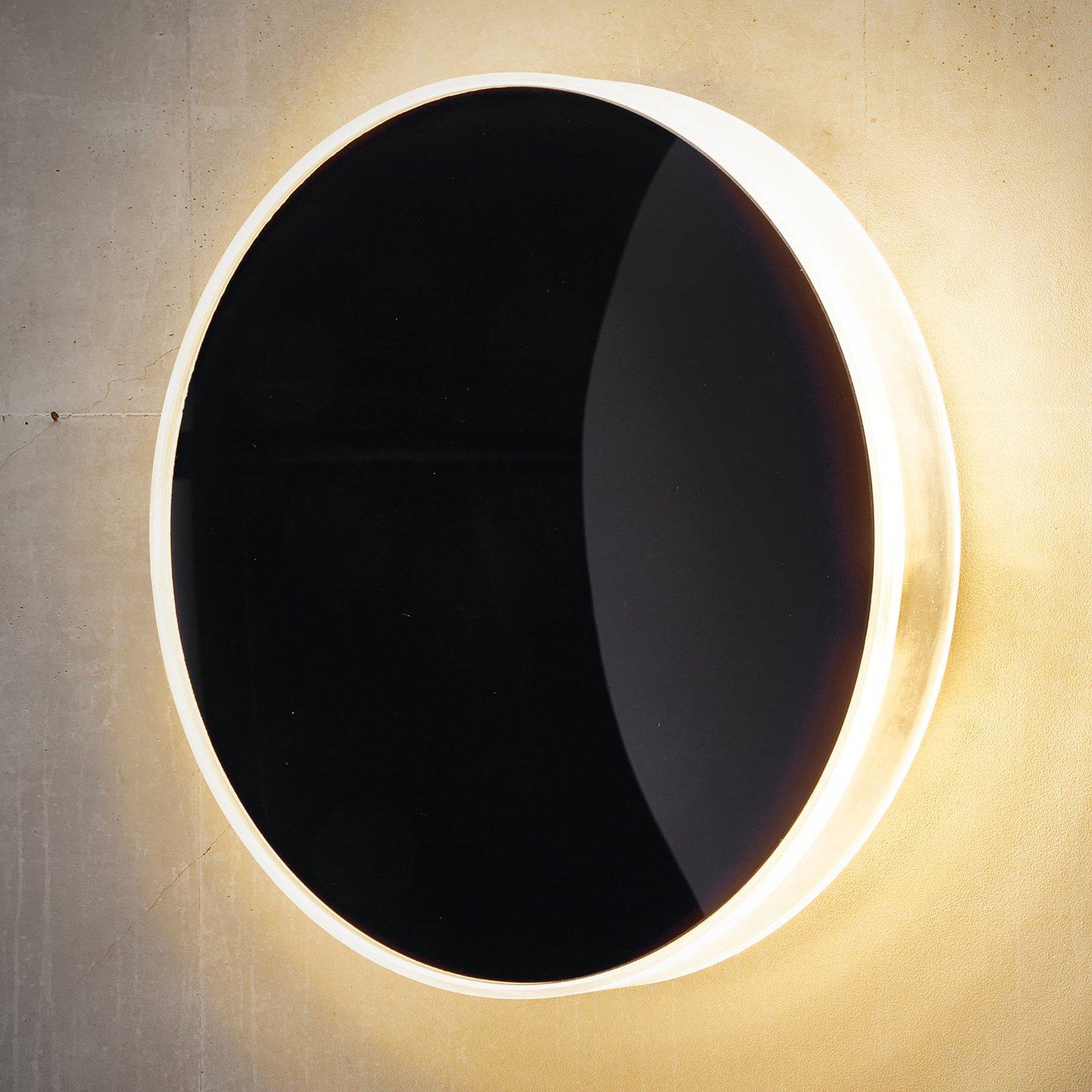 Utendørs LED-vegglampe Marbella, svart