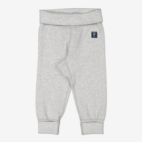 Ensfarget bukse baby gråmelange