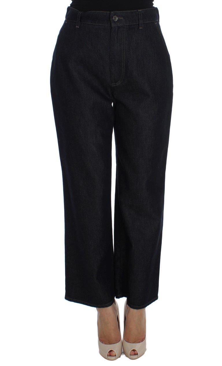 Dolce & Gabbana Women's Cotton Silk Blend Flare Jeans Blue SIG20040 - IT38 XS