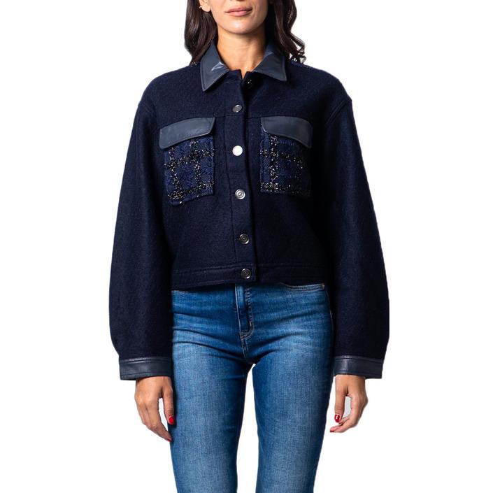 Desigual Women's Blazer Blue 177041 - blue M