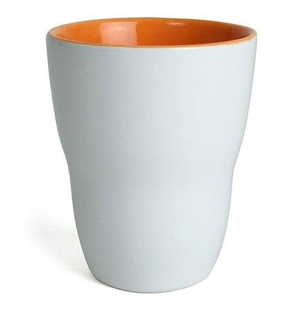 Kopp Venus, hvit/orange