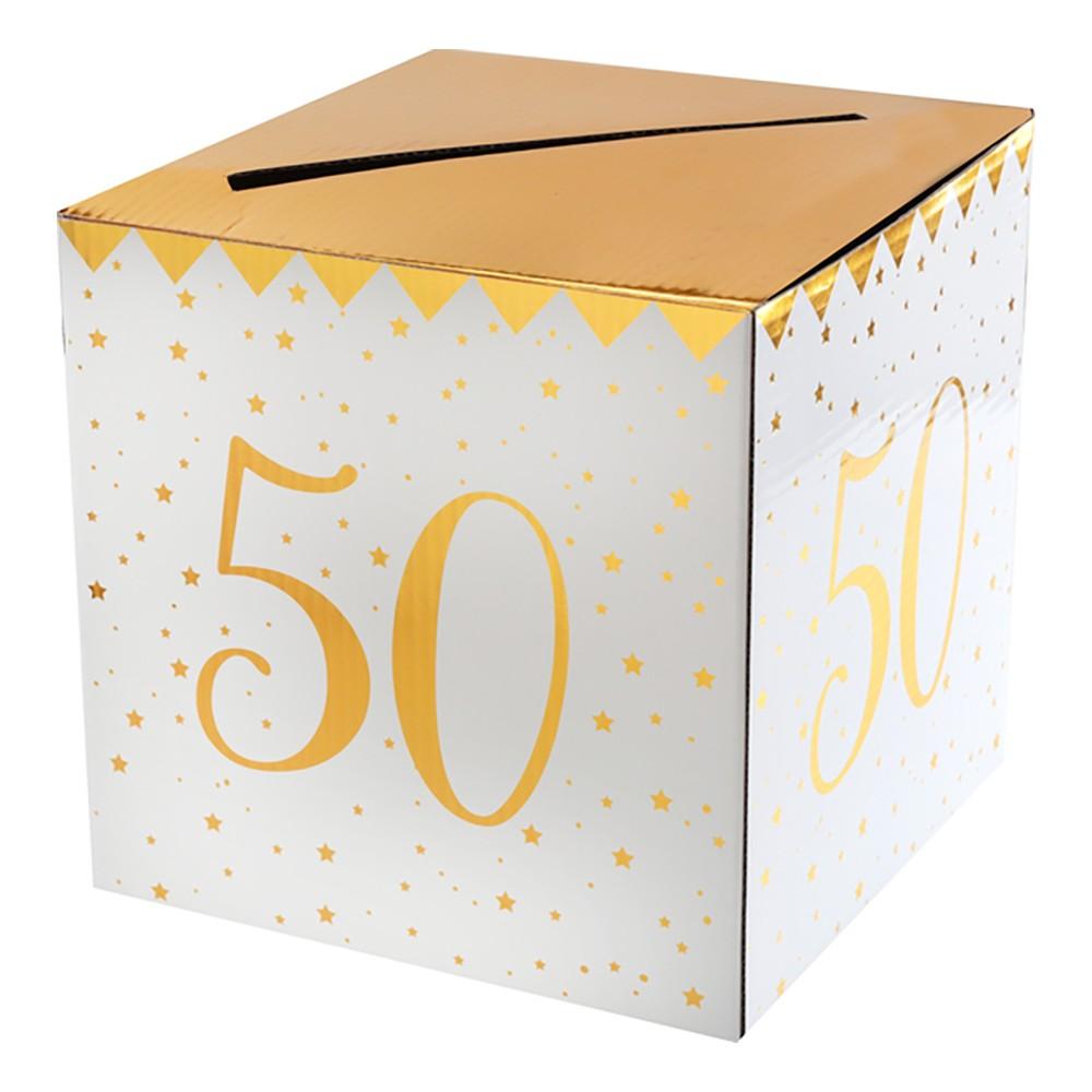 Presentbox Siffra med sedelfack Guld - Siffra 50