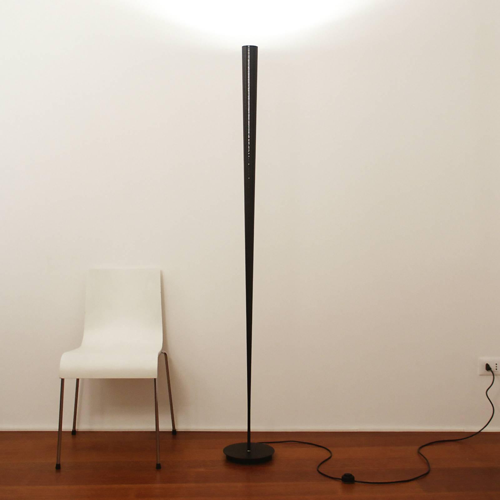 Designer-gulvlampe Drink, svart