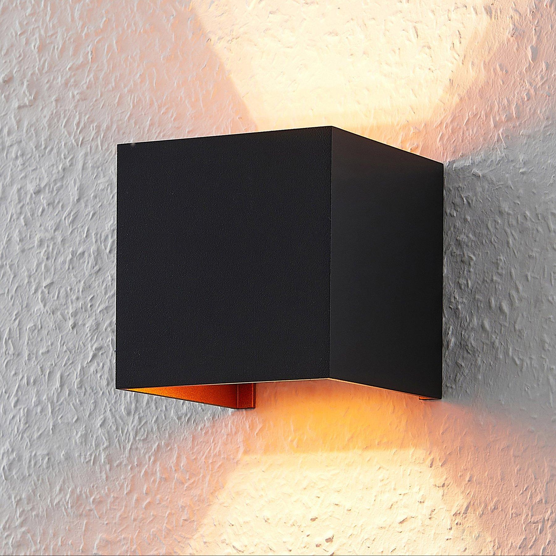 ELC Jördis vegglampe, G9, kantet, svart