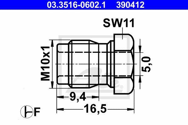 Liitosruuvi ATE 03.3516-0602.1