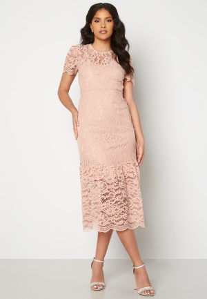 Happy Holly Taylor occasion lace dress Light pink 34