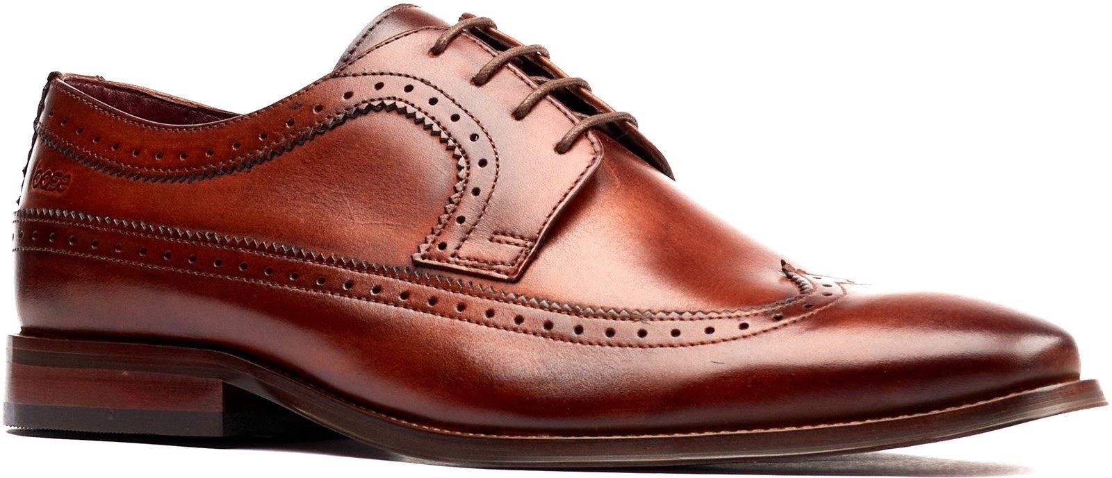 Base London Men's Havisham Plain Toe Derby Shoe Various Colours 32247 - Tan 7