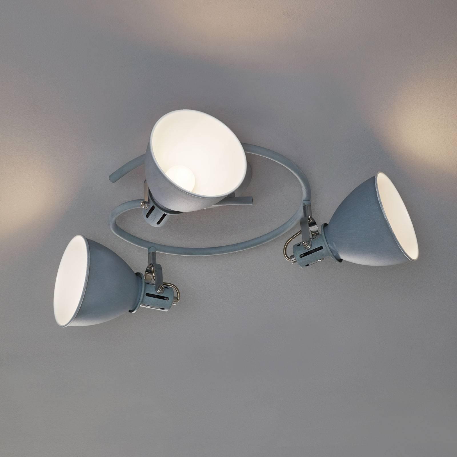 Spiralformet, grå takspot Jonas, 3 lyskilder