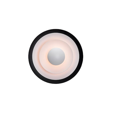Diablo Vägglampa Mattsvart/Röd LED 30 cm fast inst