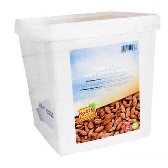 Mandlar Torrostade & Saltade 3kg - 78% rabatt