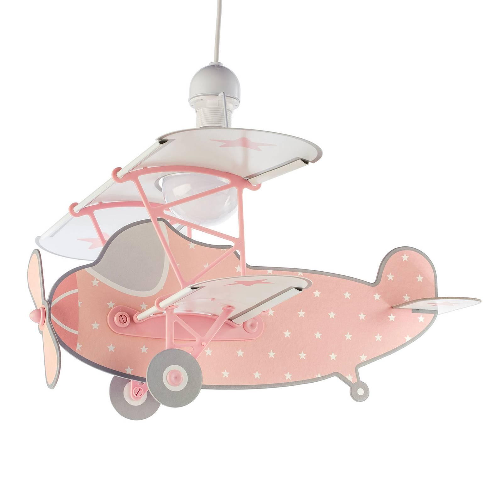 Lastenhuoneen riippuvalaisin Star Plane, roosa