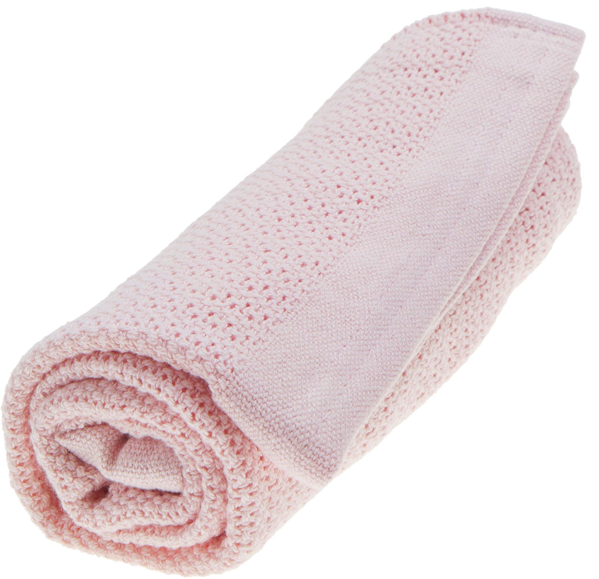 Vinter & Bloom Soft Grid Eko Torkkupeitto, Blossom Pink