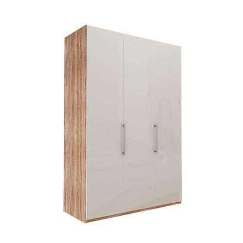 Garderobe Atlanta - Lys rustikk eik 150 cm, 236 cm, Uten gesims / ramme