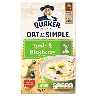 Quaker Oats So Simple Apple/blueberry 360g