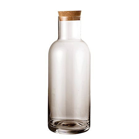 Flaska med lock Glass Grå