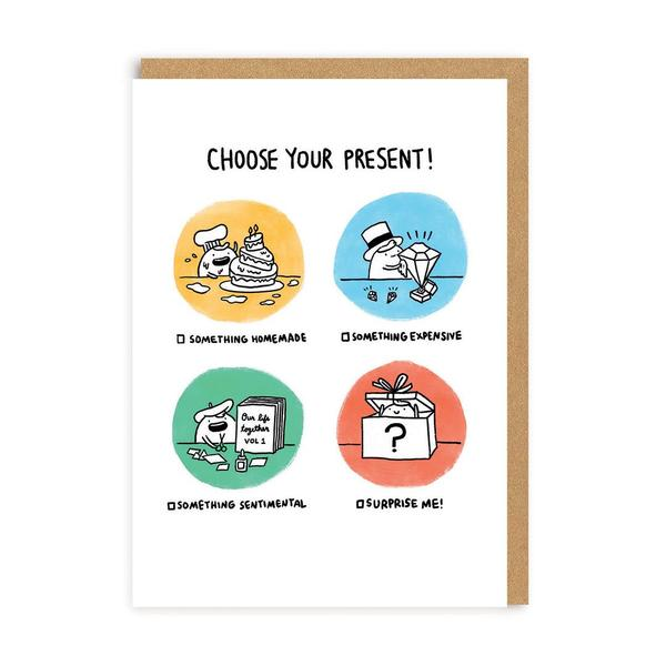 Choose Your Present Greeting Card
