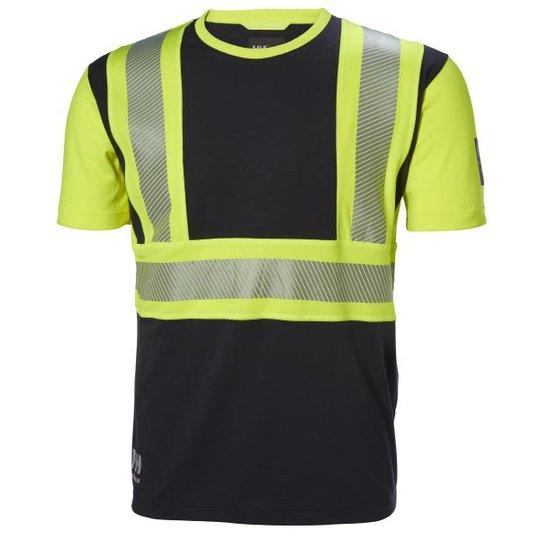 Helly Hansen Workwear ICU T-paita huomioväri, musta/keltainen Koko S