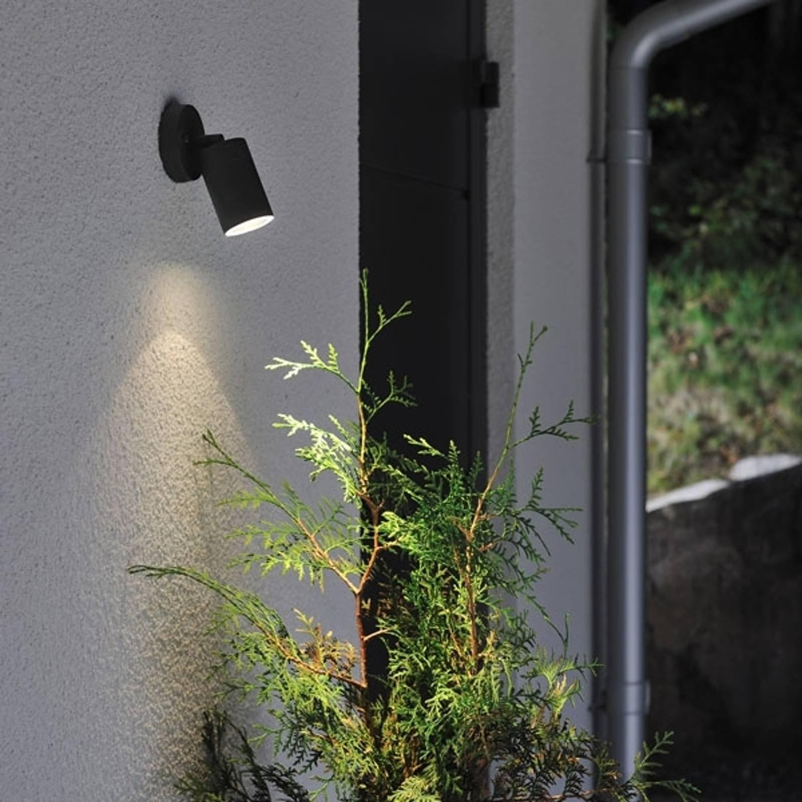 Utendørs vegglampe New Modena, GU10-spot, svart