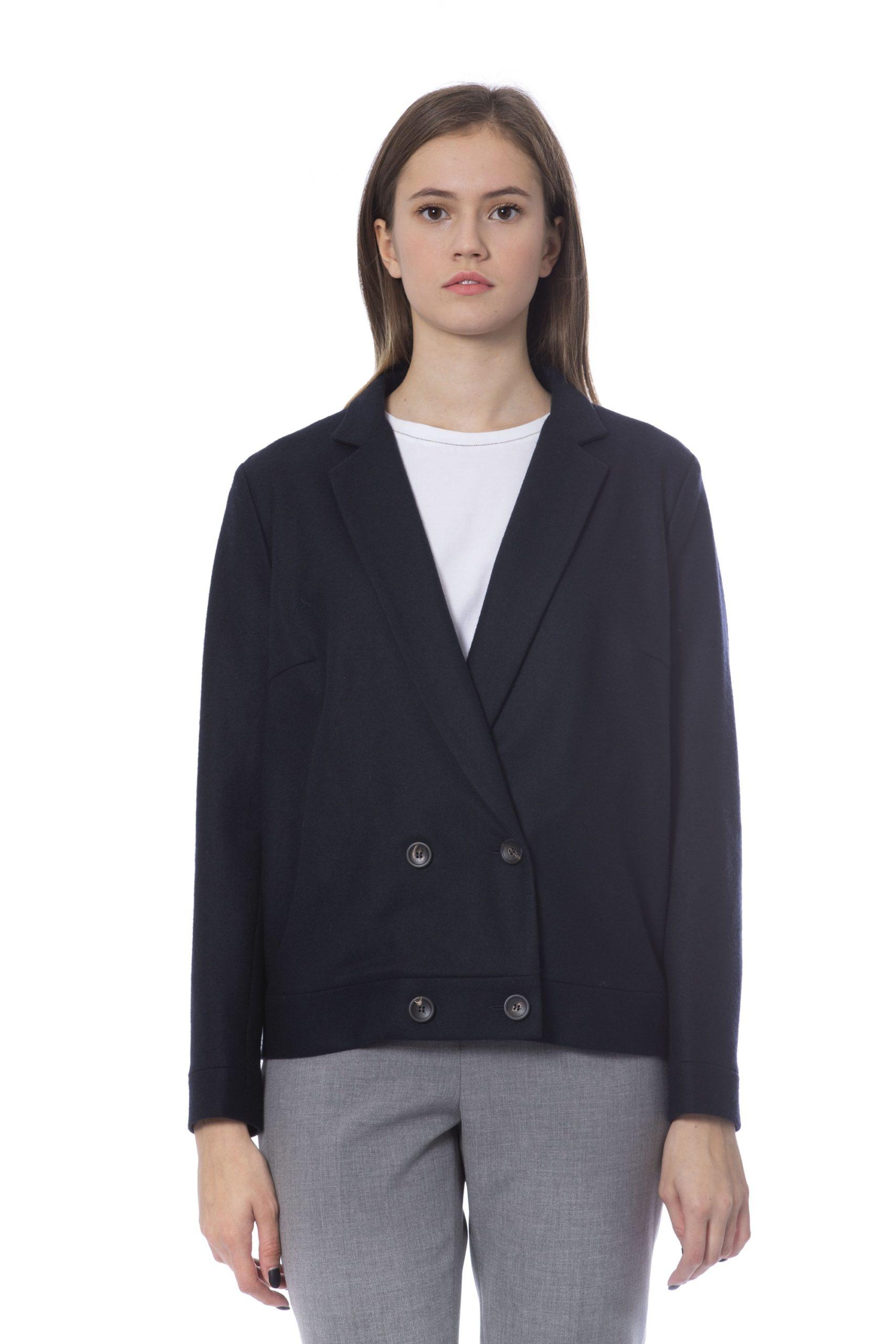 Peserico Women's Jacket Blue PE854138 - IT42 | S