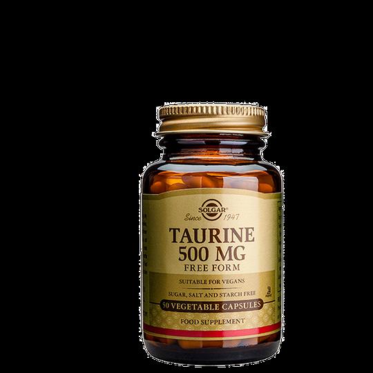 Taurine 500 mg, 50 kapslar