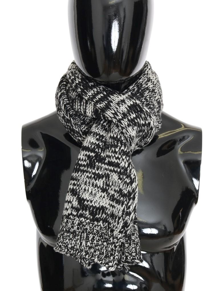 Dolce & Gabbana Men's Wool Knitted Scarf Multicolor MS1897