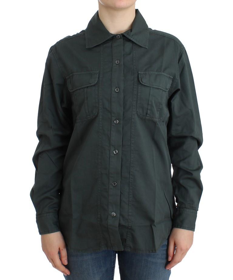 Cavalli Men's Shirt Grey SIG11983 - IT40|S