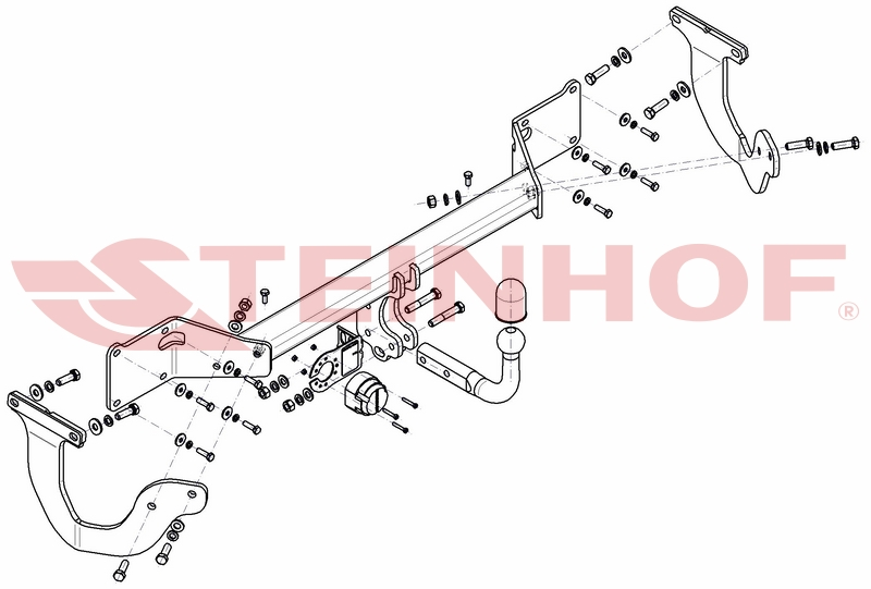 Vetokoukku STEINHOF STT-183 Peugeot Expert, Toyota ProAce '16-