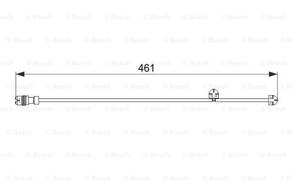 Jarrupalan kulumisen ilmaisin BOSCH 1 987 474 558